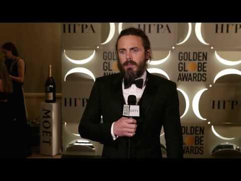Backstage with Casey Affleck- 74th Golden Globe Award Winner