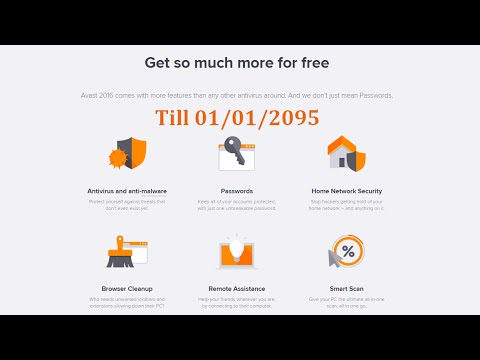 Latest version of avast! Free Antivirus - License key till 2095 ✔
