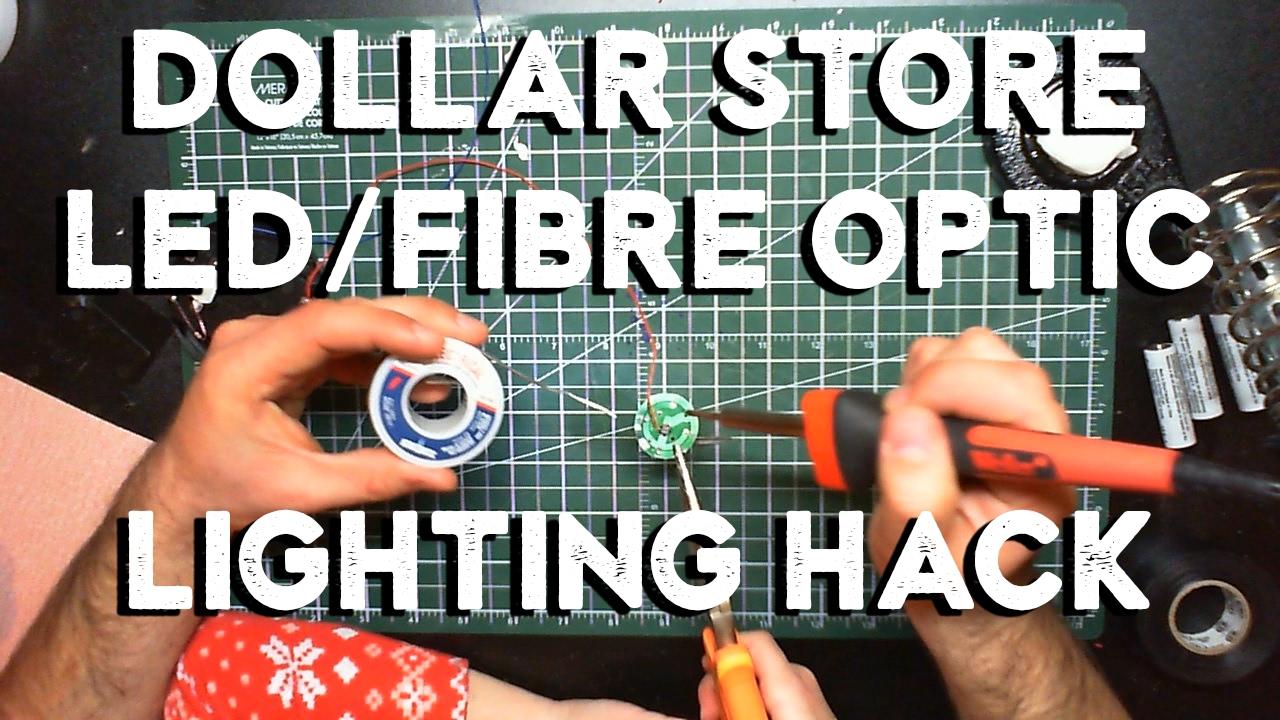 Dollar Led Fibre Optic Lighting Hack For Star Destroyer Model