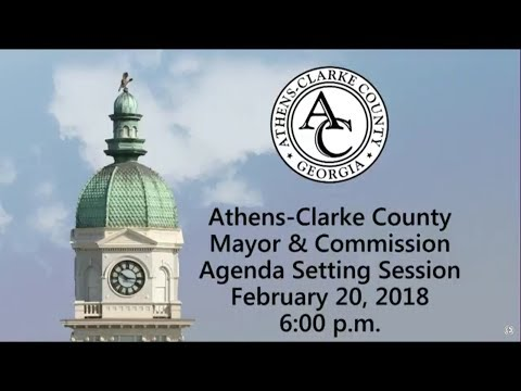 02-20-2018 Agenda Setting Session