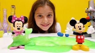 Видео для девочек с #МиккиМаус: ловушка для Минни! Делаем ПРЫГУНОВ. Видео про игрушки