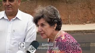 Vereadores retornam à Jardim Reflorenda conferir calçada pedida via requerimento
