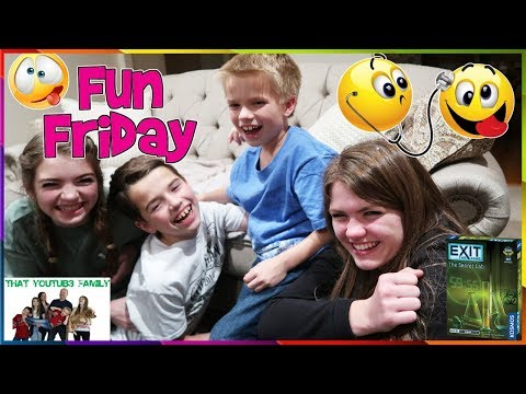 FAMILY FUN FRIDAY - Escape Room Game - KIDS FUNNY STRANGE DISEASE GAME PLAY/ That YouTub3 Family