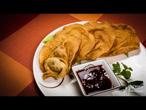চাইনিজ ফ্রাইড অনথন | Bangladeshi Chinese Restaurant Style Crispy Fried Wonton Recipe | অন্থন