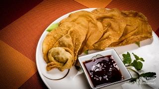 চাইনিজ ফ্রাইড অনথন   Bangladeshi Chinese Restaurant Style Crispy Fried Wonton Recipe   অন্থন