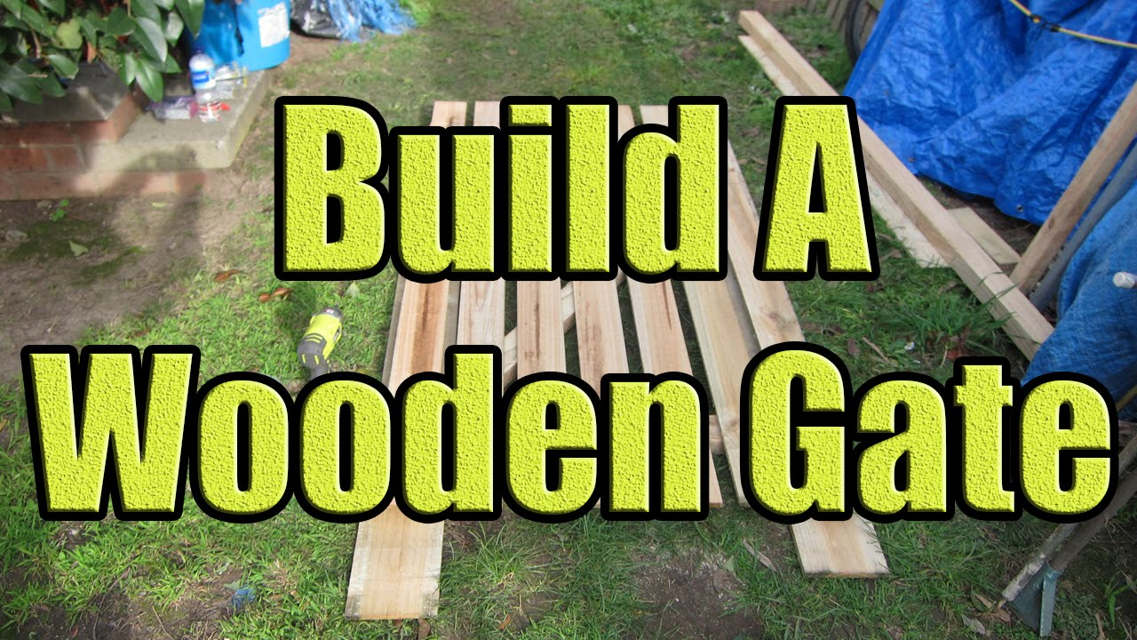 How To Build A Fence Gate Out Of Wood (Wooden Gate Construction With DaznDi  Properties)   YouTube