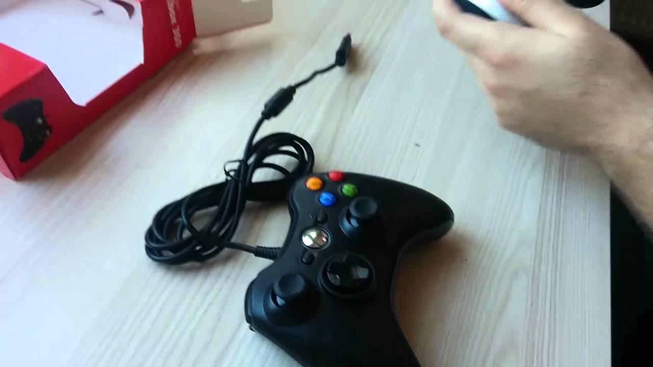 Microsoft Xbox 360 Kablolu PC Gamepad kutu açılımı ve incelemsi ...