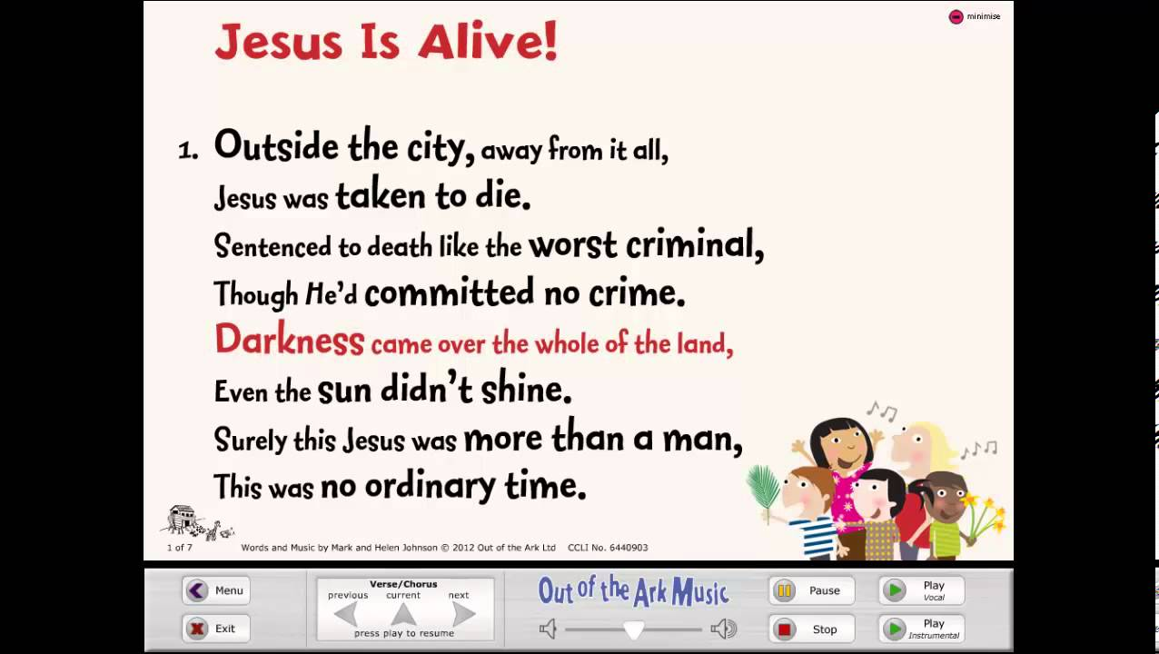 Jesus Is Alive Easter Assembly Song from Sing Easter by Out of the Ark Music