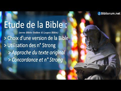 Etude de la Bible avec La Bible Online et Logos Bible en utilisant les n° Strong