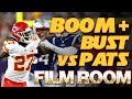 Film Room: Patrick Mahomes Kareem Hunt Boom | Kansas City Chiefs vs Patriots NFL highlights 2018
