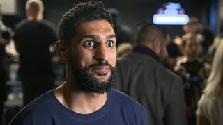 """""""For 10 years I've been fighting world-class fighters."""" Amir Khan interview   New York media day"""