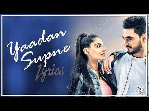 Yaadan Supne | Lyrics | Kulwinder Billa | Dr Zeus | Latest Punjabi Song 2017 | Syco TM