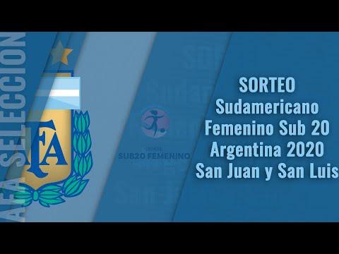 Sorteo del Sudamericano Femenino Sub 20 Argentina 2020 - San Juan y San Luis.