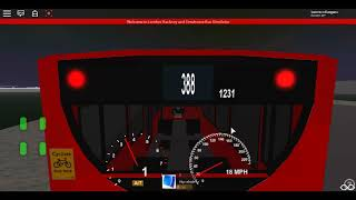 Roblox London Hackney & Limehouse bus Simulator E200 (euro 6) CSG CTP on Route 388 Winter 2017