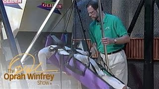 Oprah Goes Hang Gliding over Los Angeles--in Virtual Reality! | The Oprah Winfrey Show | OWN