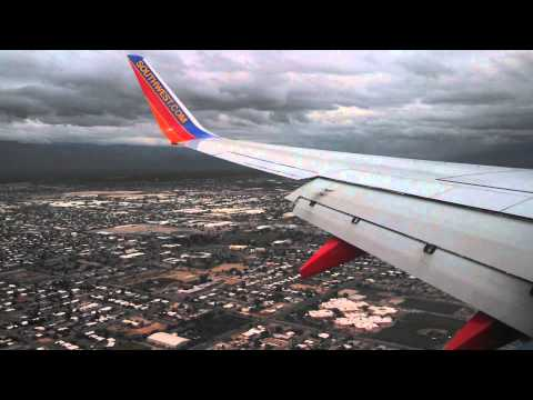 Southwest Airlines landing Tucson Arizona
