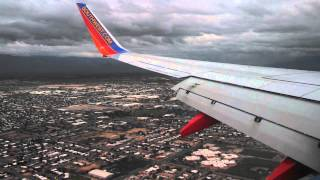 Southwest Airlines landing Tucson Arizona