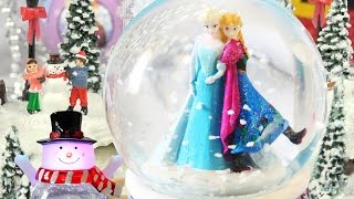 FROZEN PRINCESS SISTERS CHRISTMAS GIFTS SNOW GLOBES Glitter Snowman Ice Skating Castle Decoration