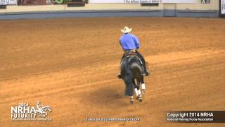 Little Rooster Spark ridden by Peter Defreitas-2014 NRHA Futurity (Open Futurity - Semi Finals)