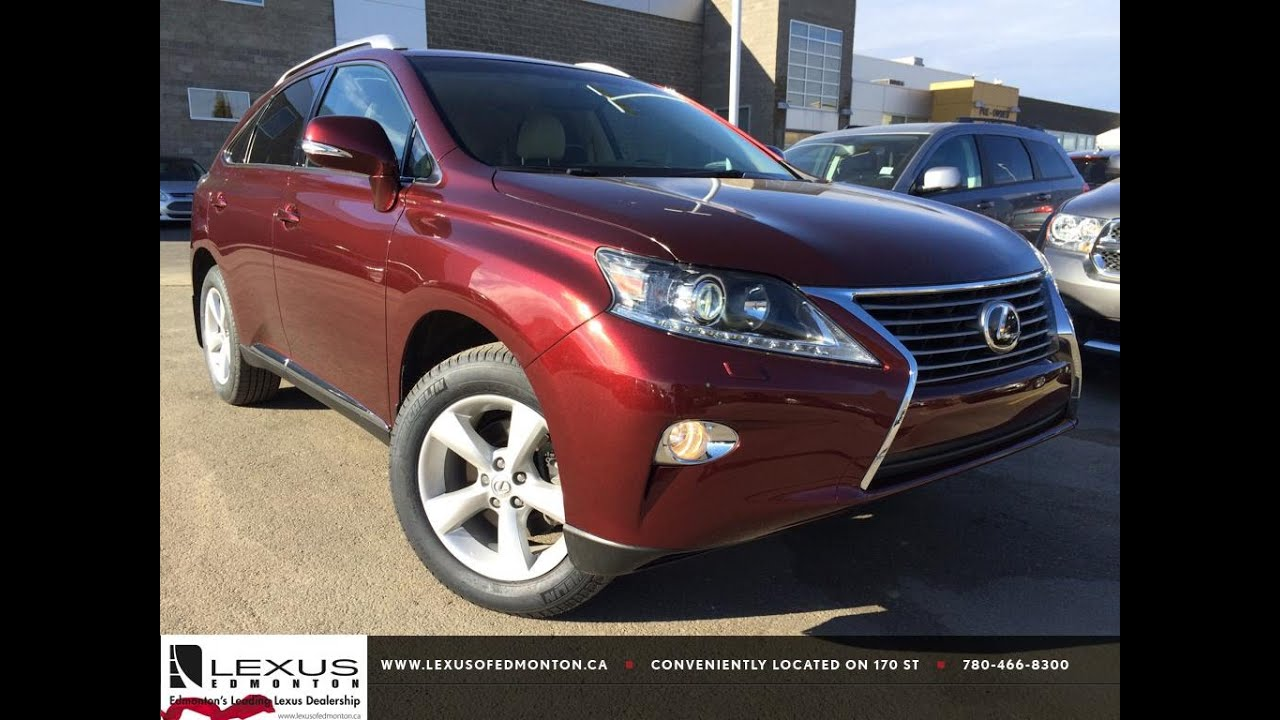 lexus 2014 rx 350 red. lexus certified pre owned red 2014 rx 350 awd premium package review camrose alberta youtube rx