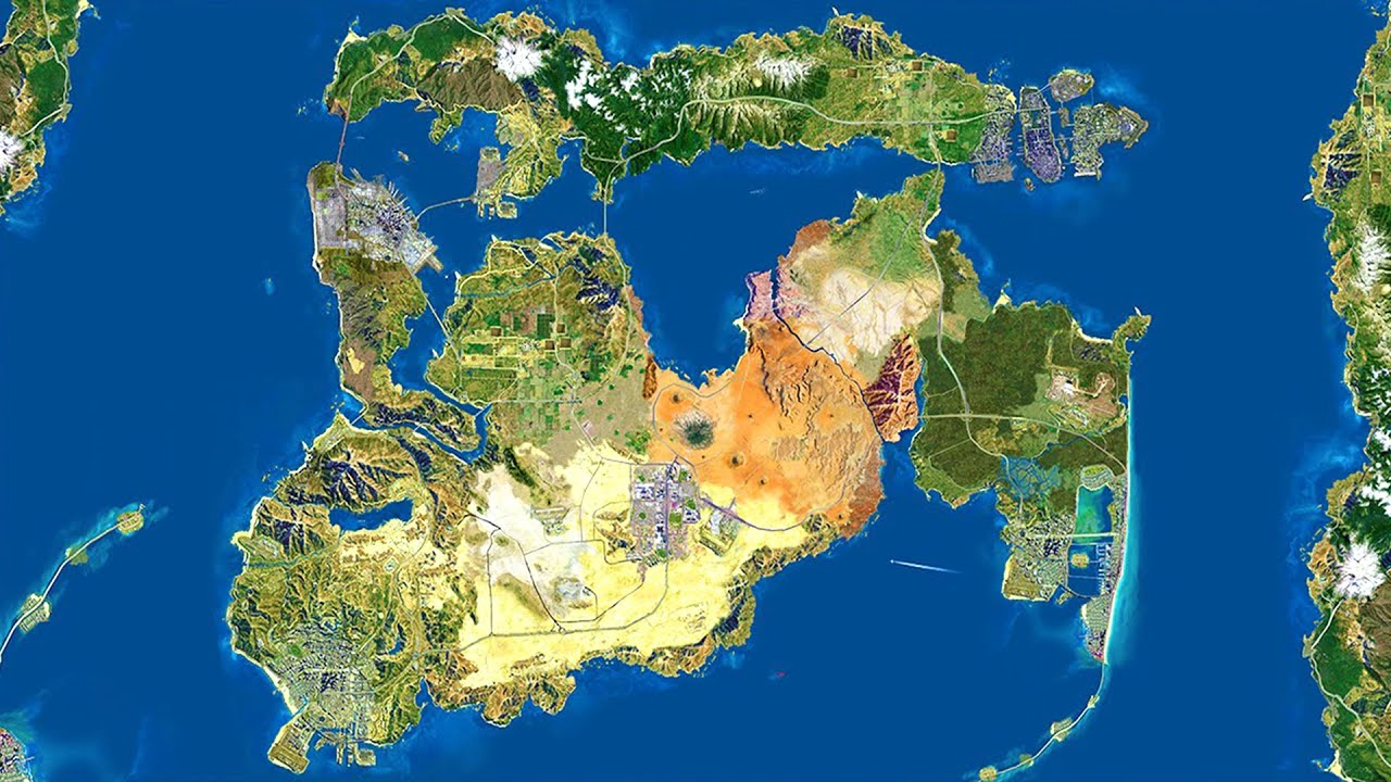 Amazing gta world map grand theft auto vi