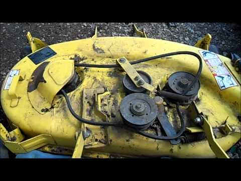 John Deere D140 Wiring Diagram Repairing A John Deere Mower Deck Youtube