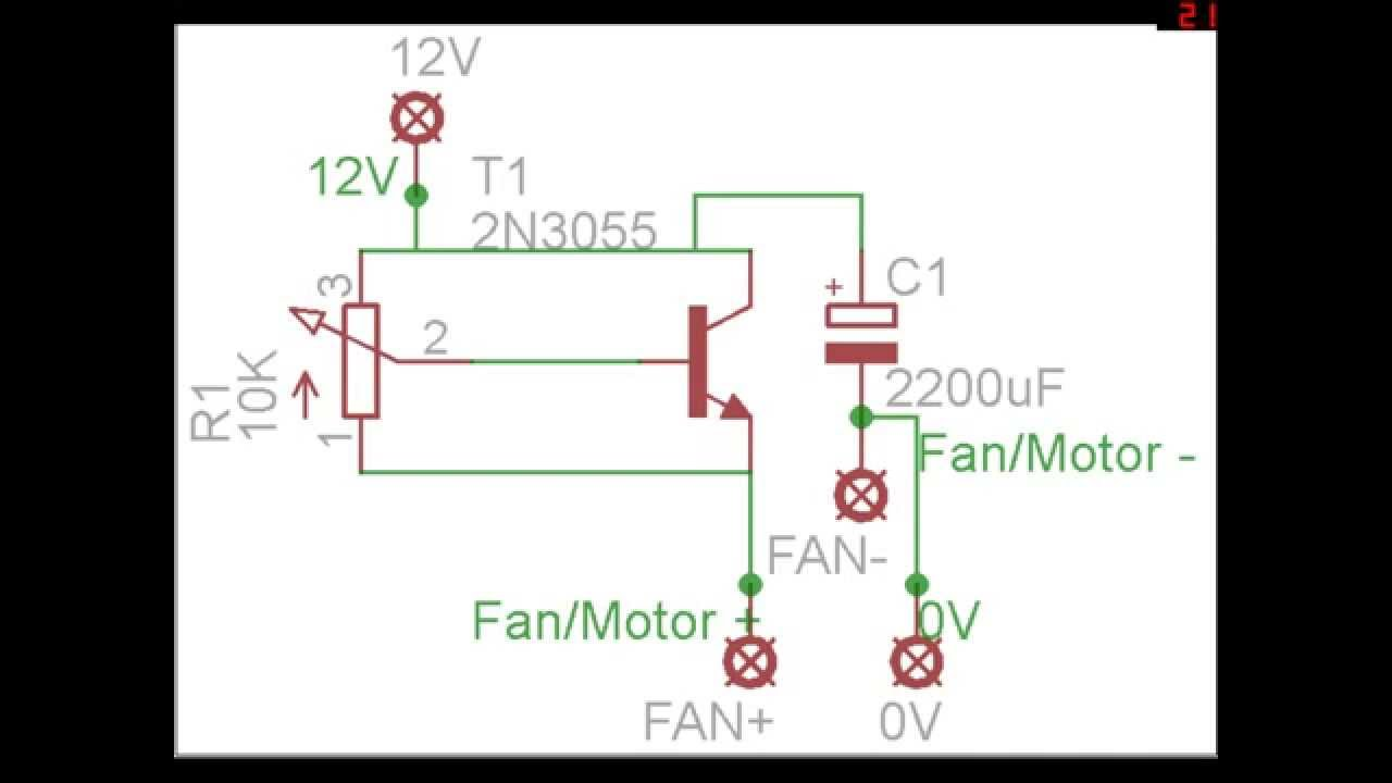 Dc Fan Wiring Schematics Diagrams Diagram For Motor Diy Pc Speed Controller Circuit With Pcb Layout Rh Youtube Com 12v