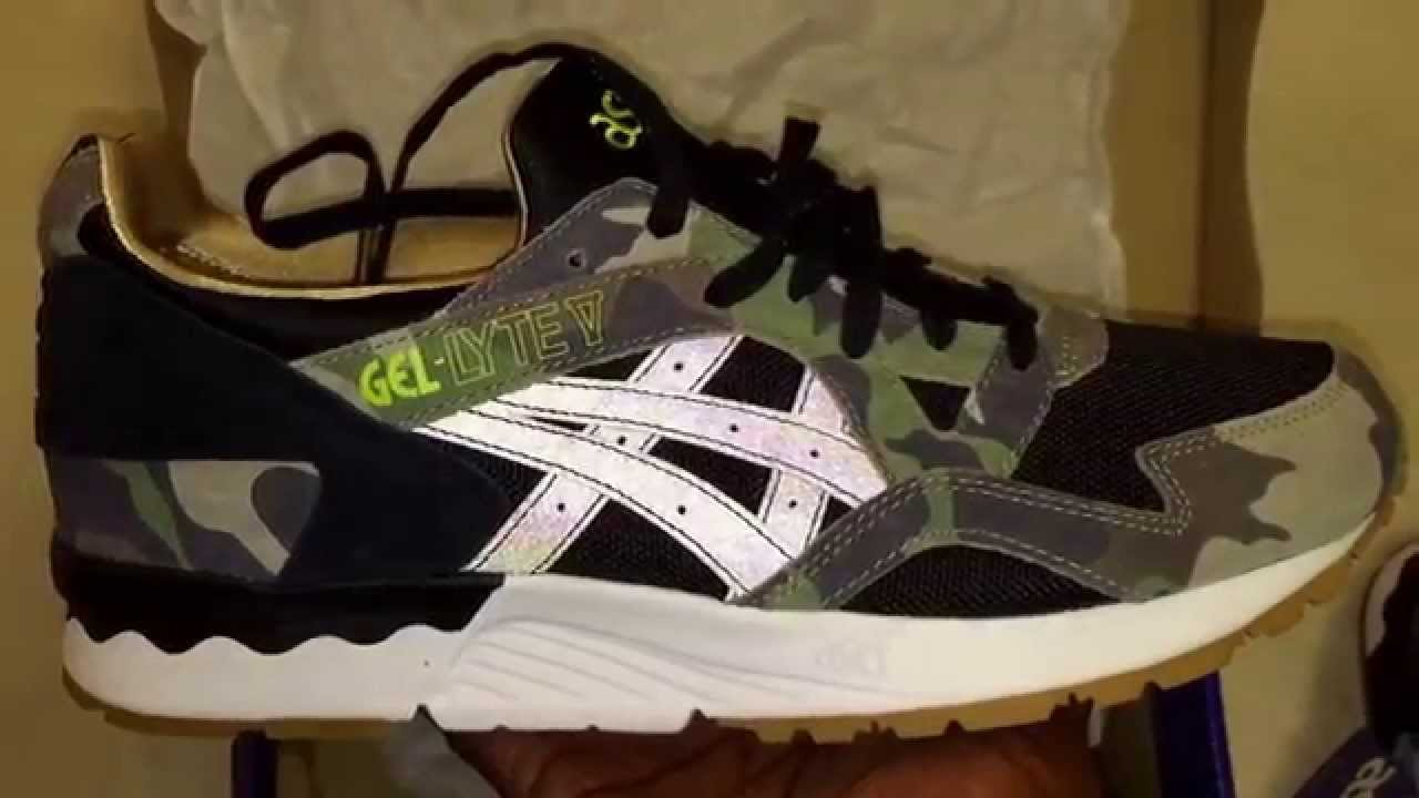 "fddfba94bba44 Atmos x ASICS Gel Lyte V ""Camo"" quick look..... - YouTube"