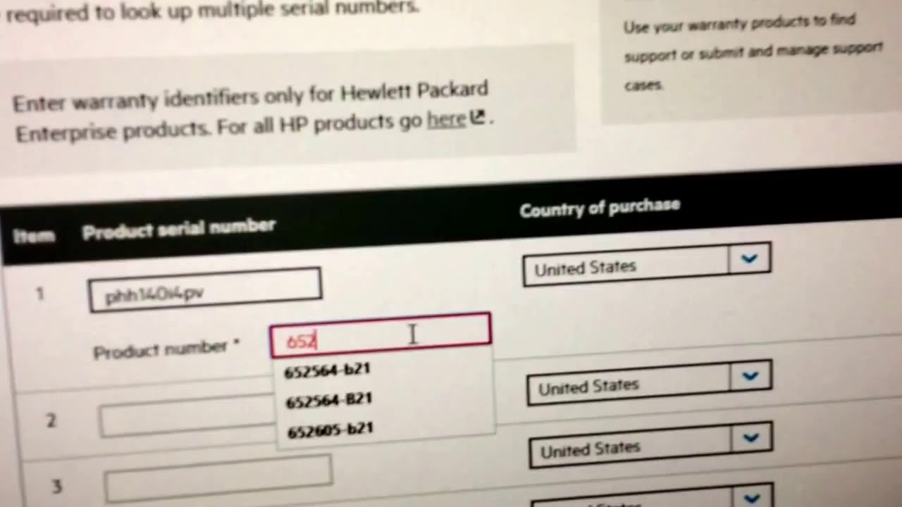 Check Hp Product Number