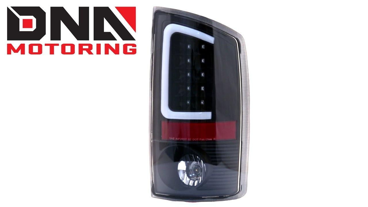 02-06 DODGE RAM 1500//03 2500//3500 LED TAIL BRAKE LIGHTS REAR LAMPS BLACK//SMOKE