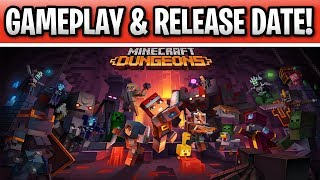 Minecraft Dungeons Gameplay & New Release Date 2020! Xbox One, PS4 Switch & PC