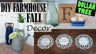 DIY DOLLAR TREE FARMHOUSE FALL DECOR ON A BUDGET