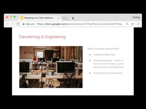 Breaking into Tech Webinar