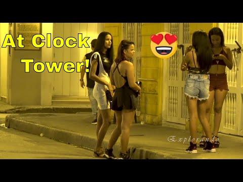 Cartagena Colombia at Night Clock Tower Walled City & Getsemani 4K