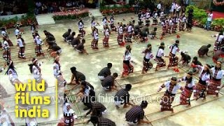 Mass bamboo dance at Reiek, Mizoram