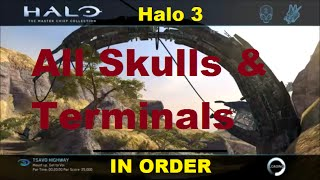 Halo 3 - All Skulls & Terminals In Order