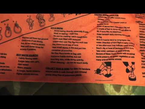 Head For Survival® ORANGE Triangular Bandana