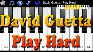 David Guetta - Play Hard - How to Play Piano Melody