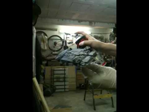 Peinture Premire Couche DApprt Sur Une Maquette   Youtube