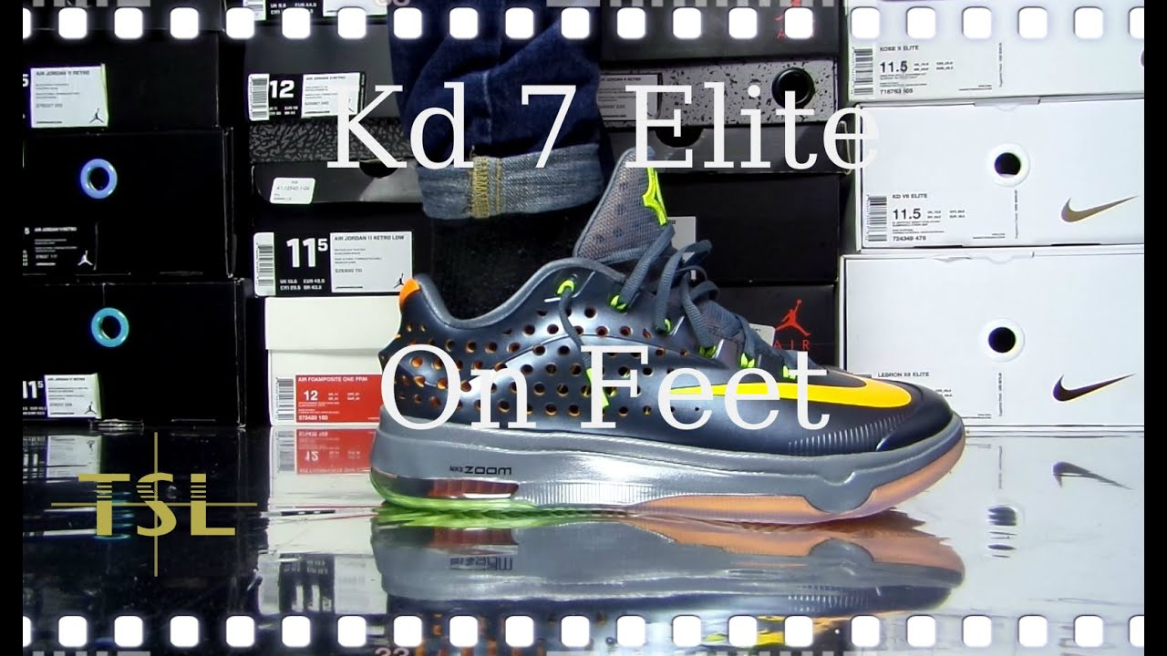 6539d500b187f1 Nike Kd 7 ELITE Team Review On Feet - YouTube