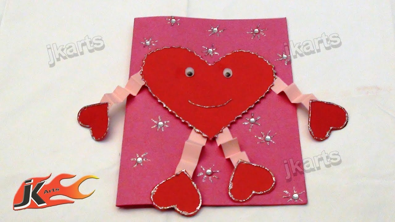 DIY How to make valentines day Greeting Card Style 4 JK Arts – How to Make an Birthday Card