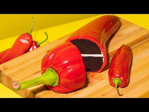 Hot Pepper CAKE! Novelty chocolate cake, buttercream, fondant   How To Cake It with Yolanda Gampp