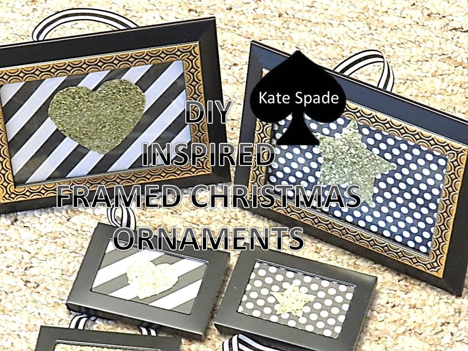 DIY KATE SPADE INSPIRED CHRISTMAS ORNAMENT - YouTube