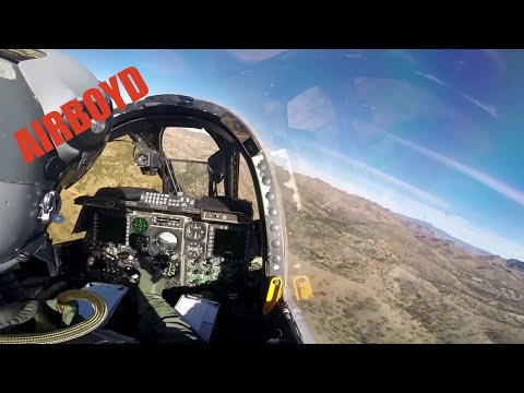 A-10 Warthog Search And Rescue Training - Cockpit View