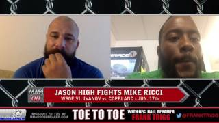 WSOF 31's Jason High: 'Mike Ricci will try to stay outside and pick me off'