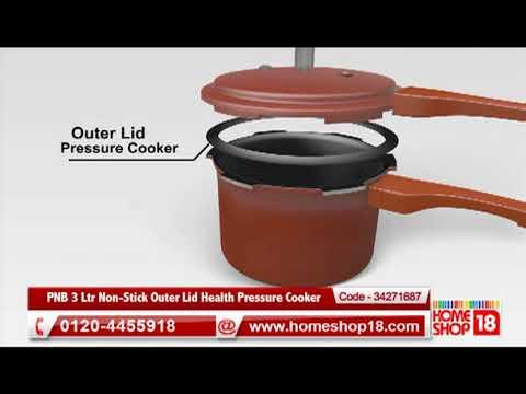 49c74d2cf51 Homeshop18.com - PNB 3 Ltr Non-Stick Outer Lid Health Pressure Cooker