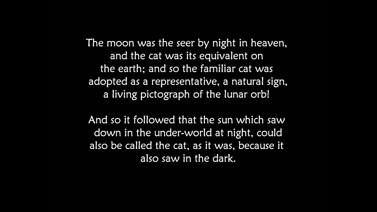The Black Cat Egyptian Symbol For The Moon Youtube