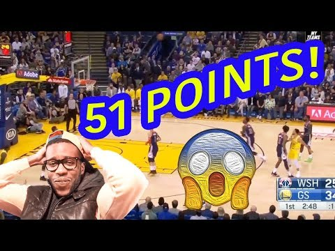 STEPH CURRY WENT CRAZY FOR 51 IN 3 QUARTERS?! GOLDEN STATE WARRIOR HIGHLIGHTS VS WIZARDS!