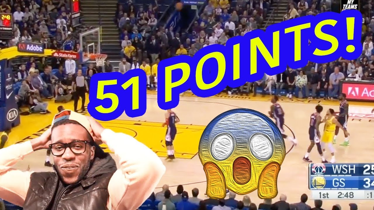 382b45b31c8 STEPH CURRY WENT CRAZY FOR 51 IN 3 QUARTERS ! GOLDEN STATE WARRIOR  HIGHLIGHTS VS WIZARDS!