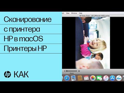 Сканирование с принтера HP в MacOS | Принтеры HP | HP